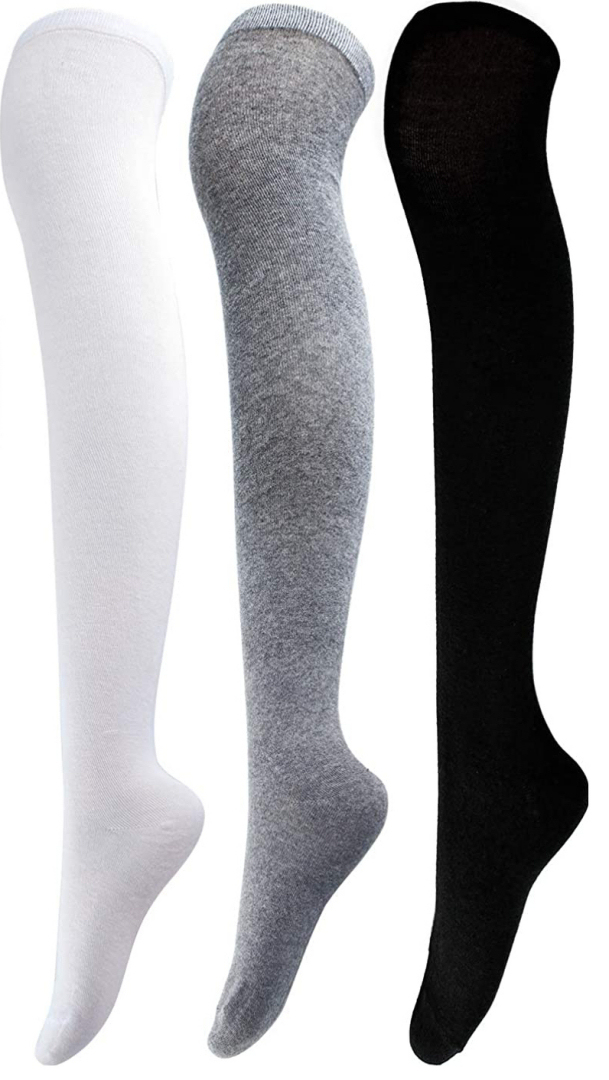 F4L 1015 Opaque Cotton Thigh-highs