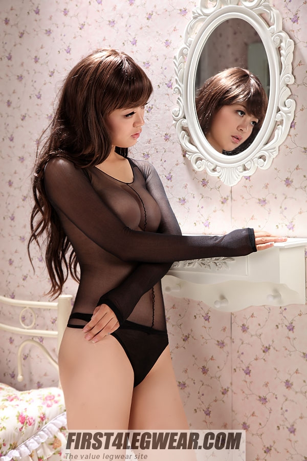 F4L 255 Long-sleeved Sheer Bodyshirt