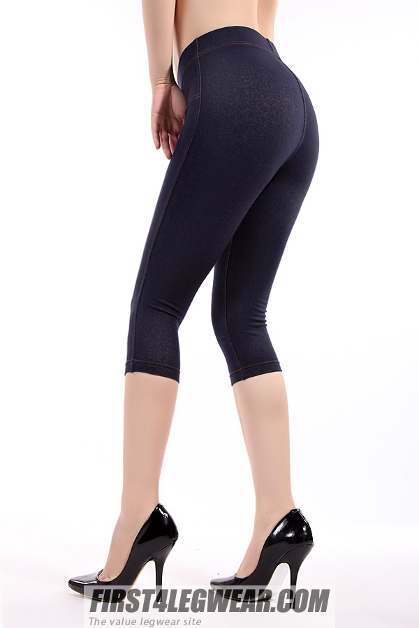 F4L 655 Denim-look Capri 'Jeggings'