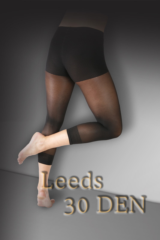 ELA Leeds Patterned Footless Tights - Click Image to Close